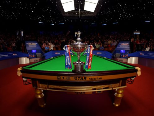 The Crucible Theatre hosts the World Snooker Championship from April 17 to May 3 (Steven Paston/PA)