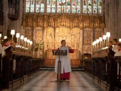 A choir of just four will sing in St George's Chapel in Windsor (PA)