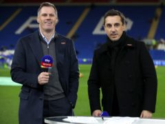 Sky Sports pundits Jamie Carragher (left) and Gary Neville (Nick Potts/PA)