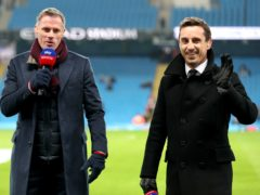 Gary Neville, right, and Jamie Carragher were happy to wave goodbye to the Super League (Richard Sellers/PA)