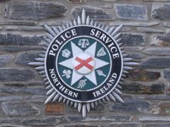 A stock picture of a Police Service of Northern Ireland (PSNI) logo badge in Derry City in Northern Ireland.