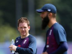 Eoin Morgan (left) and Moeen Ali are among 11 England players at the IPL (Nigel French/PA)