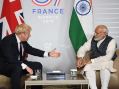 Boris Johnson is due to meet India PM Narendra Modi during his truncated trip later this month (Stefan Rousseau/PA)