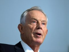Former prime minister Tony Blair (Aaron Chown/PA)