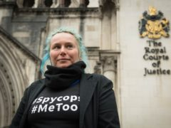 Kate Wilson arrives at the Royal Courts of Justice in London for her High Court hearing over undercover police relationships (Stefan Rousseau/PA)