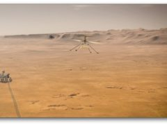 Artist's impression issued by Nasa of their Mars 2020 Perseverance rover and Ingenuity Mars helicopter (Nasa-JPL-Caltech/AP)