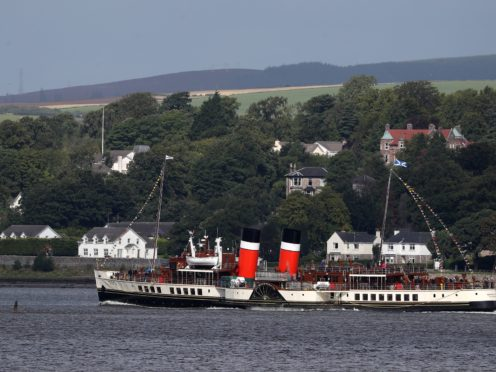 The Waverley paddle steamer crashed into the pier at Brodick, Arran, last September (Andrew Milligan/PA)