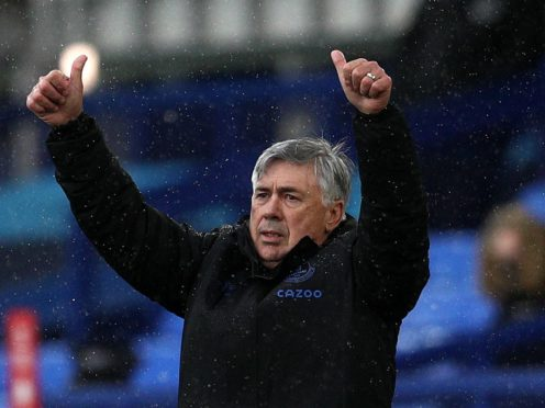 Everton manager Carlo Ancelotti is satisfied with their current league position (Jan Kruger/PA)
