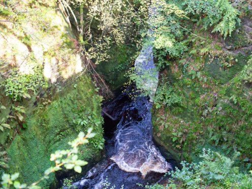 Finnich Glen, near Loch Lomond, was made famous by TV series Outlander (David Lozowy Photography/PA)