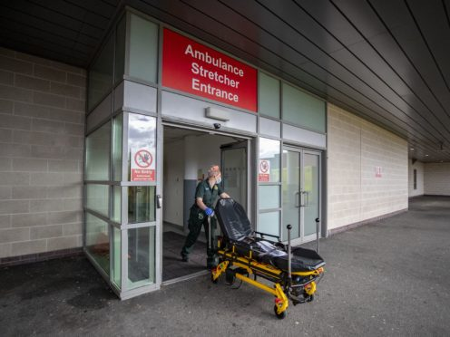 Attendances at Scottish Accident and Emergency departments were at the second lowest level recorded in February (Peter Byrne/PA)