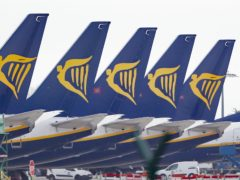 Ryanair says losses should be less than expected (Niall Carson/PA)