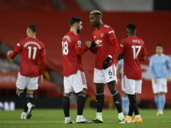 Paul Pogba, right, and Bruno Fernandes, left, have helped Man Utd to the Europa League semi-finals (Phil Noble/PA)