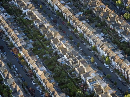 The average UK house price has surged by £20,000 in the space of a year, according to the Office for National Statistics (Victoria Jones/PA)