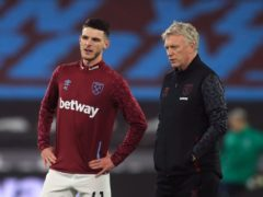 Declan Rice has flourished under West Ham manager David Moyes (Adam Davy/PA)