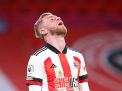 Sheffield United striker Oli McBurnie has fractured a bone in his foot and will miss the rest of the season (Alex Livesey/PA)