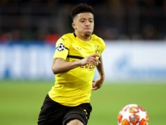 Jadon Sancho will miss the chance to return to Manchester City with Borussia Dortmund (Adam Davy/PA)
