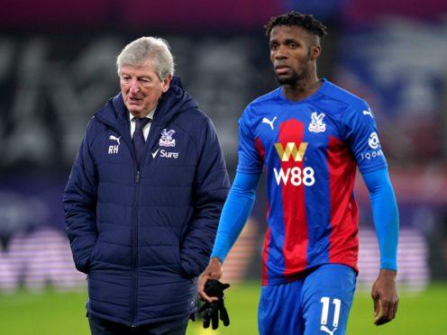 Crystal Palace manager Roy Hodgson, left, has detailed the impact racist abuse has had on Wilfried Zaha (John Walton/PA)