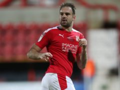 Brett Pitman was Swindon's hero (Nick Potts/PA)