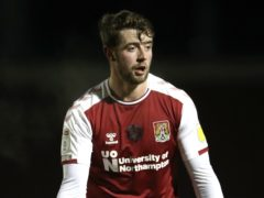 Northampton's Jack Sowerby is set to remain sidelined for the clash with Shrewsbury (Nick Potts/PA)