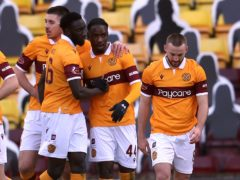 Devante Cole, second right, scored the only goal (Andrew Milligan/PA)
