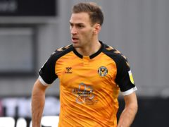 Mickey Demetriou scored twice for Newport (Simon Galloway/PA)