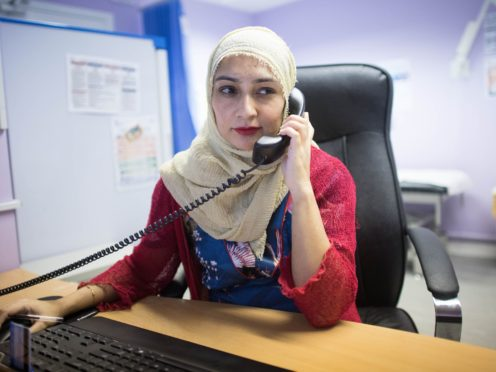 Dr Farzana Hussain at The Project Surgery in East London (Stefan Rousseau/PA)