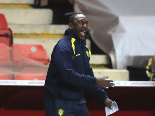 Jimmy Floyd Hasselbaink watched his team score five goals (Adam Davy/PA)