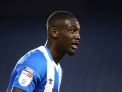 Huddersfield's Yaya Sanogo could return from injury against Barnsley (Tim Goode/PA)