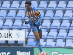 Shrewsbury's Nathanael Ogbeta was on target against Plymouth (Barrington Coombs/PA).
