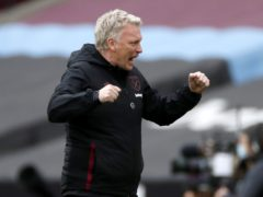 David Moyes feels finishing in the top four at West Ham would surpass that achievement at Everton in 2005 (Paul Childs/PA)