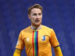 Mansfield's Stephen Quinn will miss the match with Scunthorpe (Simon Marper/PA)