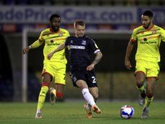 Southend's Jason Demetriou (centre) will miss the end of the season through suspension (Adam Davy/PA)