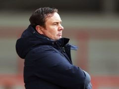 Derek Adams has a decision to make ahead of Morecambe's game with Scunthorpe (Tim Markland/PA)