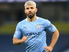 Sergio Aguero hopes to return for Manchester City in the Carabao Cup final (Michael Regan/PA)