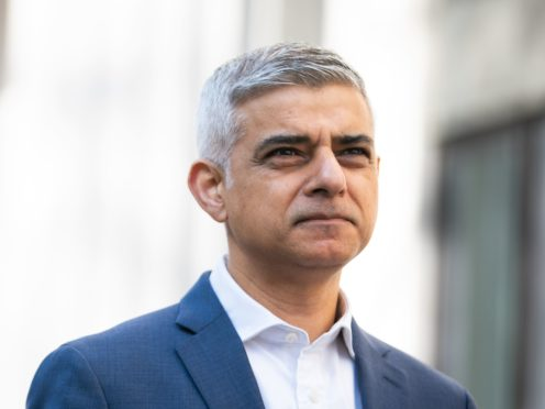 Sadiq Khan has accused Boris Johnson of lying about the reason for TfL's financial difficulties (Aaron Chown/PA)