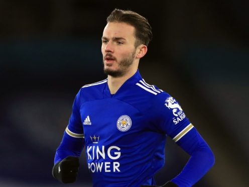 James Maddison is back for Leicester after being dropped (Mike Egerton/PA)