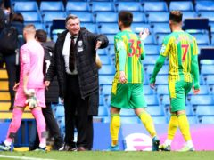 West Bromwich Albion manager Sam Allardyce celebrated a memorable win at Stamford Bridge (Clive Rose/PA)
