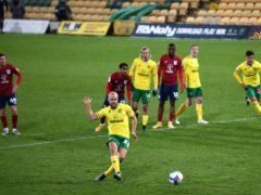 Teemu Pukki netted three goals against Huddersfield (Joe Giddens/PA)
