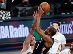 Brooklyn Nets' Kevin Durant made a winning return (Frank Franklin II/AP)