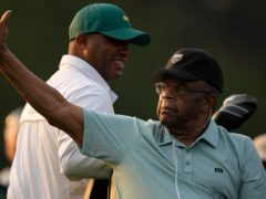 Lee Elder joined Gary Player and Jack Nicklaus as an honorary starter ahead of the 85th Masters (Charlie Riedel/AP)
