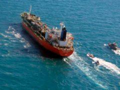 The South Korean-flagged tanker (Tasnim News Agency/AP)