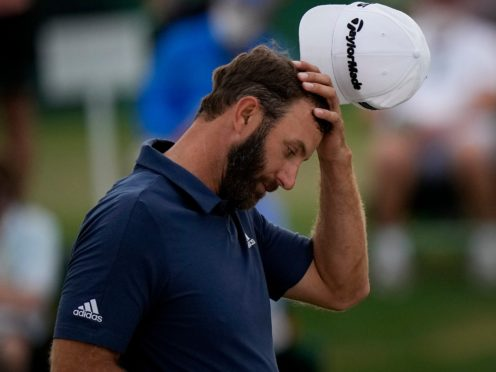 Dustin Johnson missed the cut in defence of his Masters title (Matt Slocum/AP)
