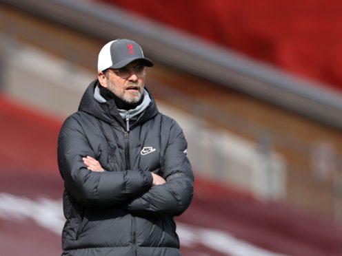 Jurgen Klopp's sights are set on the Premier League's top four (Clive Brunskill/PA)