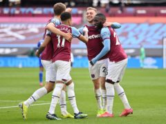 West Ham would be on the verge of the Premier League title with the six European Super League clubs removed (Justin Setterfield/PA)