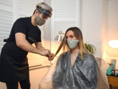 Beauty therapists wasted little time ushering in the easing of lockdown restrictions across England as long-awaited hair and beauty treatments began just after the stroke of midnight (Kirsty O'Connor/PA)