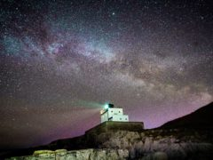 The core of the Milky Way becomes visible in the early hours of Tuesday morning (Owen Humphreys/PA)