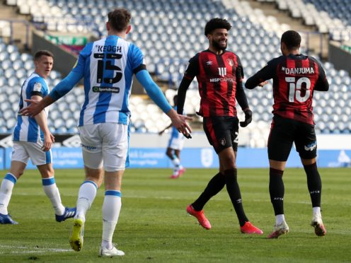 Bournemouth's Philip Billing, centre right, celebrates scoring against his old club (Martin Rickett/PA)