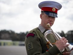 The bugler leading The Last Post at the Duke of Edinburgh's funeral, Sergeant Bugler Jamie Ritchie, I/C Corps of Drums, Royal Marines (Victoria Jones/PA)