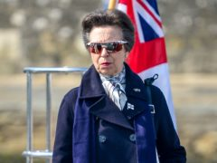 The Princess Royal during a visit to the Royal Yacht Squadron at The Castle in Cowes (Ben Birchall/PA)
