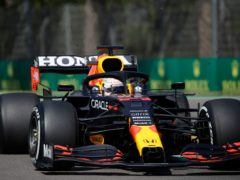 Max Verstappen broke down in second practice in Imola (Luca Bruno/AP)